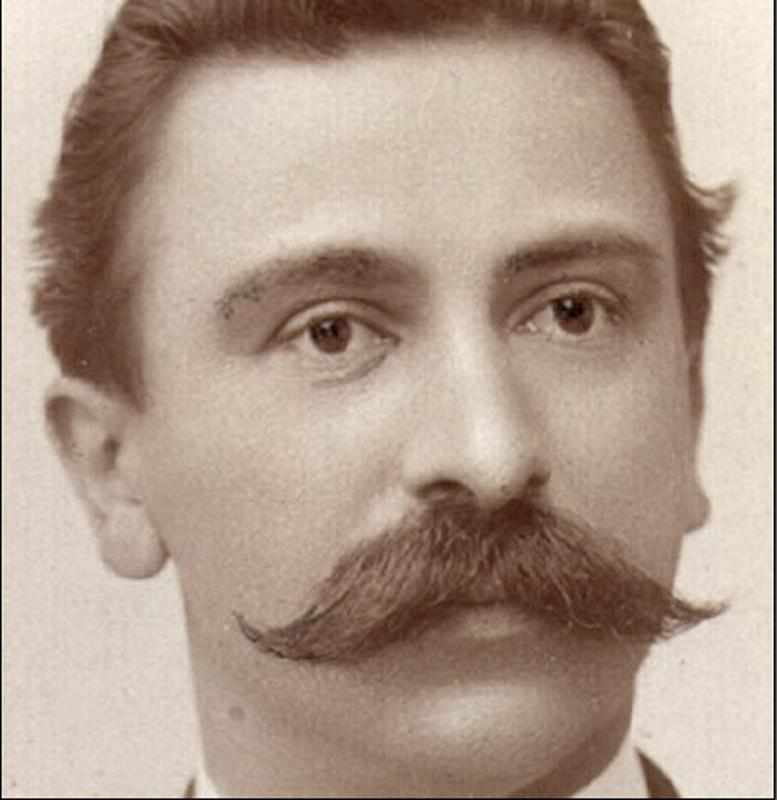 unbekannt, Gustav Adolf Bay (1866-1931), ohne Jahr, Schwarzweiss-Fotografie. © Dieses Bild ist urheberrechtlich geschützt. - Portrait-Bot-Bay